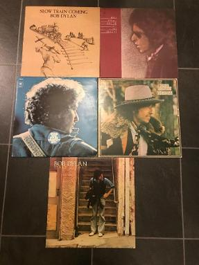 1976 Bob Dylan lp samling fra 70 tallet - Straume - - Desire - Blood on - Slow train - Street legal - Greatest hits vol 2 dobbel (4 enkle og en dobbel lp) - Straume