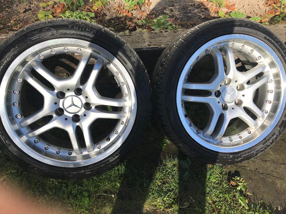 """4 stk Mercedes 18'' Sommerhjul på felg - Siggerud - 18"""" Sommerhjul. Dimensjon: 245/40. ET 36. Godt vedlikeholdt. Se på bildene. - Siggerud"""