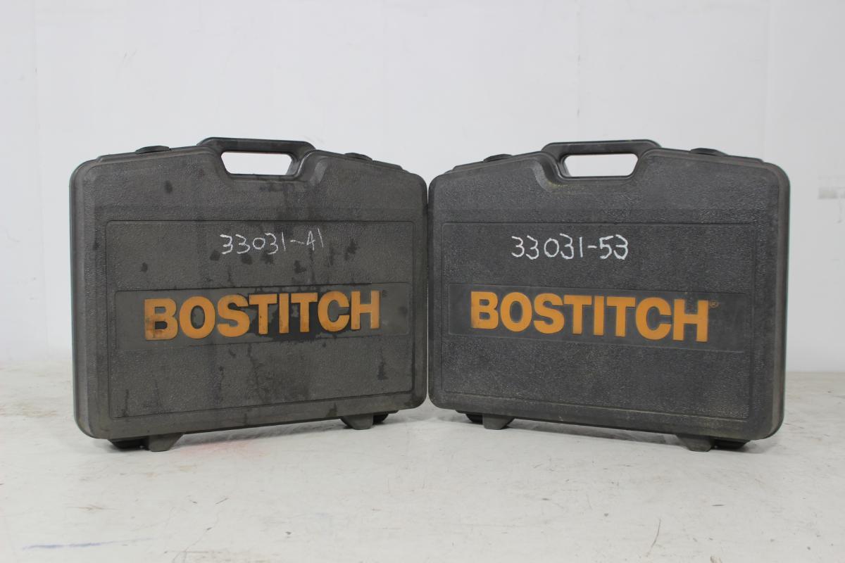 2 stk. Bostitch N89RH17 - Sem - Ikke testet, men virker normale Vekt 3,6 kg Mål (LxHxB) 500x355x133mm Lydtrykk Lpa 60 S 1m 87,8 dB Lydtrykk Lpa 60 1s 91 dB Lydeffekt LwA 99,8 dB Vibrasjonsnivå A(8) 3,51 m/s2 Magasinkapasitet 50 spik Tråddiameter Ø 2,8-3,3mm Spikerlengde 50-90m - Sem
