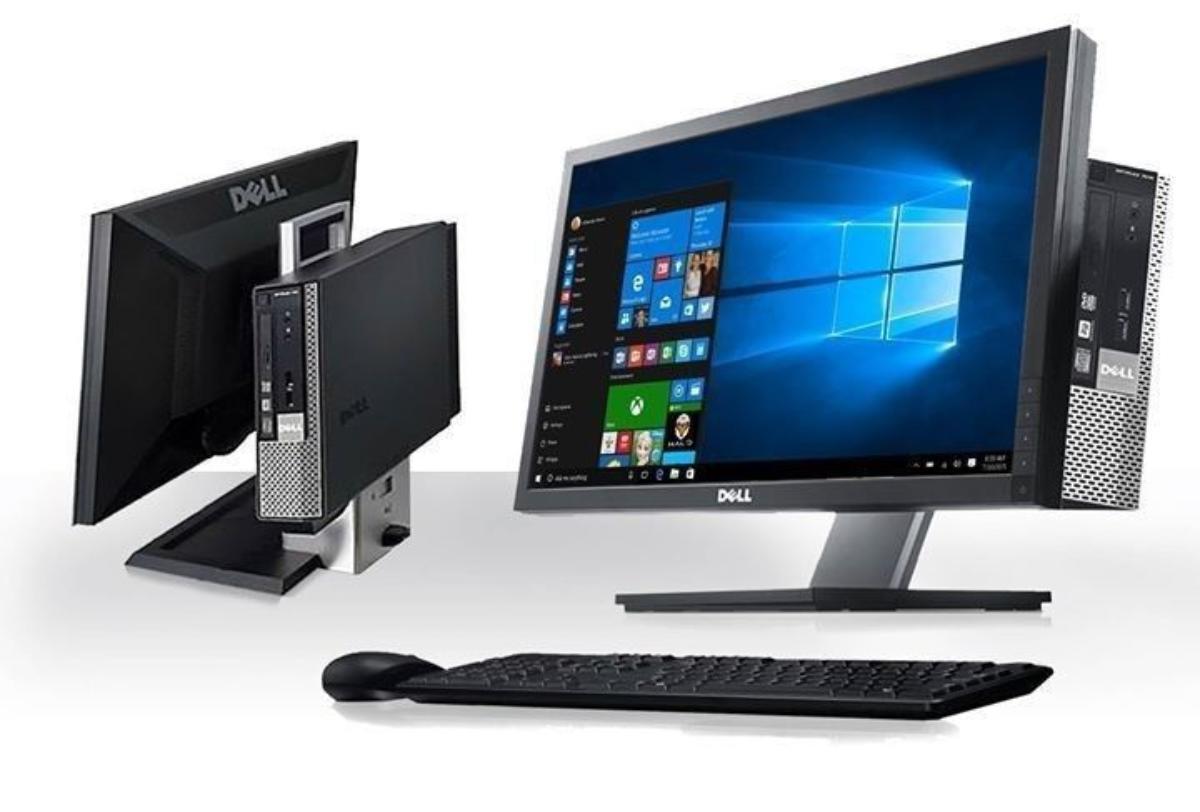 """Komplett Dell kontorpc, Windows 10, Office Dell - Bergen - Dell Optiplex 790 , med 19"""" Skjerm, mus, tastatur og alt av kabler følger med. Dette er en komplett pc. Maskinen er nyoverhalt, Windows 10 og Office er nyinstallert. Maskinene leveres med minikabinett festet på baksiden av skjermen, i en særde - Bergen"""
