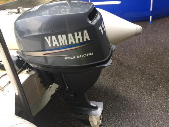 2008 Yamaha 15 hk - Sandefjord - Strøken Yamaha 15HK, stillegående 4 takter! Veldig lite brukt! Har ligget på lager i mange år. Olje byttet Iår, og vært kjørt med. Medfølger controllboks og er el start - Sandefjord